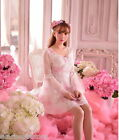 C01-Lolita Girls Princess dresses Dolly Party Sweet crew neck Lace size:S~L
