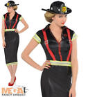 Pin Up Fire Girl Ladies Firefighter Fancy Dress Adults Uniform Costume Outfit