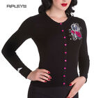 HELL BUNNY Ladies KALONICE Cardigan Top Black Pink Princess All Sizes
