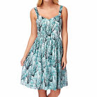 French Connection Sea Fern Cotton  Womens  Dress - West Lake Multi