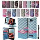 For Alcatel One Touch Fierce 2 7040T Flip Wallet LEATHER POUCH Case Cover + Pen