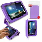 """GENUINE ORZLY LEATHER TRI-FOLD STAND CASE COVER FOR TESCO HUDL 7"""" - FREE STYLUS"""