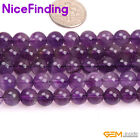 "8mm Natural Round Purple Amethyst Stone Beads For Jewelry Making Gemstone 15""DIY"