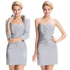 Formal Evening Party Outfit Suits Wedding Guest Dress Mother of the Bride Jacket