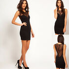 Women Sexy Lace Sleeveless Bodycon Evening Party Cocktail Mini Dress Clubwear UK