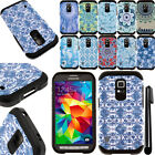 For Samsung Galaxy S5 Active G870A Anti Shock HYBRID HARD BACK Case Cover + Pen