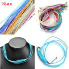 "2pcs 4mm Ribbon Voile Necklace Silk Organza 17-18.5"" Cord for Pendant Findings"