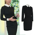 Vintage Fashion Women Long Sleeve Bodycon Cocktail Evening Party Mini Dress