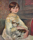 Pierre Auguste Renoir - Girl with Cat Vintage Fine Art Print