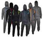 Mens Boys Location Full Fleece Tracksuit Pant Hoodie Hoody Training Jogging New