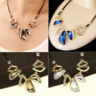 New Exaggerated Fashion Retro Crystal Necklace Female Short Clavicle Chain AS