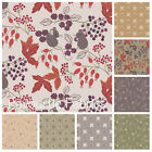 LEWIS AND IRENE AUTUMN FIELDS 100% COTTON FABRIC acorns mice Autumnal colours