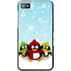 Christmas Holiday Season Penguins Hard Case For Blackberry Z10