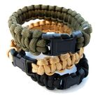 "Every Day Carry 9.5"" Survival Paracord Bracelet Plastic Side Release Buckle 6ft"