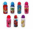 Boys & Girls ALUMINIUM WATER BOTTLES (400ml) for School/Sport