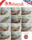 High Quality Beaded Pearl Bridal Diamante Motif Rhinestone Wedding Appliques