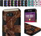 2Layer Dynamic Hybrid Slim Case Cover For AT&T Kyocera Hydro Air C6745 Phone