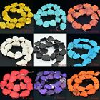 18x25mm Multi-Colored Turquoise Nugget Beads 16""