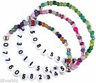 Your MOBILE NUMBER Personalised Glass Seed Beads Elastic Bracelet 9 Colours