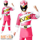 Deluxe Pink Dino Charge Power Ranger Girls Fancy Dress Superhero Childs Costume