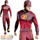 The Flash Mens Fancy Dress Superhero Comic DC Heroes Adults Costume Outfit New