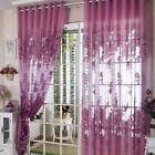 European Peony Pattern Half Shading Room Door Window Curtain Drapes Panel GL55