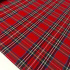 RED ROYAL STEWART TARTAN 100% FINE WEAVE COTTON CHECK FABRIC Christmas etc