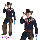 Cowboy Mens Costume Adult Wild Western Fancy Dress Stag Party 3 piece Outfit