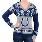 Indianapolis Colts WOMENS Ugly Christmas Sweater BIG LOGO V Neck NFL NEW 2015 $47.95 USD on eBay
