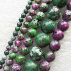 XX2877 Beautiful Ruby in Fuchsite 4-12mm Round Loose bead 15.5 inch Choose Size!