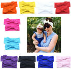 Fashion 1Set Mom Baby Cotton Rabbit Turban Hairband Knot Headband Head Wrap Gift