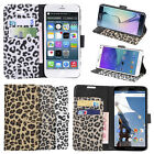 Leopard  PU Leather Stand Wallet Phone Case Cover For Samsung iphone HTC Moto