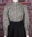 FRONTIER CLASSICS NEW Green Floral Print Prairie Blouse Dickens Cowgirl