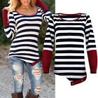 Fashion Sexy Women Ladies Casual Long Sleeve Crewneck Loose Blouse Tops T Shirt