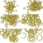 20 Raw Brass 18 Gauge 1.02mm Open Round Circle Jump Ring Findings Small - Big