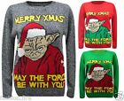 Unisex Men Women StarWar Theme-May The Force Be With YouChristmas Jumper Sweater