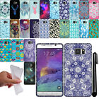 For Samsung Galaxy Note 5 N920 TPU PATTERN SILICONE Rubber GEL Case Cover + Pen