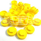 "16mm AZTEC YELLOW HEXAGONAL SCREW COVER CAPS TO FIT 8mm (5/16"") TEK SCREWS (AM4)"