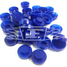 "16mm MARINE BLUE HEXAGONAL SCREW COVER CAPS TO FIT 8mm (5/16"") TEK SCREWS (AN1)"