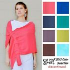 OH MY GAUZE Cotton MARIE Wrap Shawl Adjustable OSFM S/M/L/XL/1X 2015 DISC COLORS