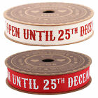 2 Rolls Christmas Ribbon Gift Wrapping White Red Reindeer Present Do Not Open 5m
