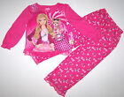 Nwt New Mattel Barbie Pajamas Set  2 PC Sleepwear Pink Puppy Dog Cute Nice Girl