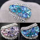 Women's Great 9K Gold Plated Clear Crystal Ring Rhinestone Wedding Gift Size 6-9