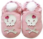 Littleoneshoes Soft Sole Leather Baby Infant Girl Skull Pink Gift Shoes 18-24M