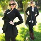 Stylish Long Asymmetric Women Cardigan Cool Irregular Overcoat With Belt B20E