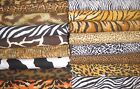 "Christmas Tree Skirt Quilt 20"" Animal Skin Print Fabric Upick tiger leopard cow"