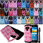 For Samsung Galaxy Avant G386T Shockproof HYBRID Silicone HARD Case Cover + Pen