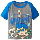 % Bubble Guppies Awesome! Toddler Boys T-Shirt - Grey