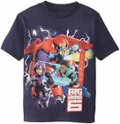% Big Hero 6 Six Baymax Little Boy's T-Shirt - Navy