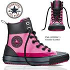 Converse Pink Leather Hi Top Ladies Womens Boys Girls All Star Trainers Shoes UK